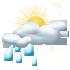 Переменная облачность, возможны дожди